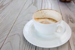 Leerer Tasse Kaffee Lizenzfreie Stockfotografie