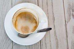 Leerer Tasse Kaffee Stockfotos