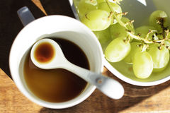 Leerer Tasse Kaffee Stockfoto