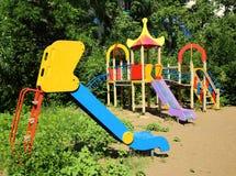 Leerer verfügbarer Spielplatz Stockbild