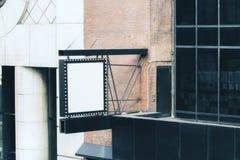Leerer weißer quadratischer Stopper lizenzfreies stockfoto