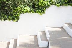 Leerer weißer Wandhintergrund, verspotten herauf Schablone Lizenzfreies Stockbild
