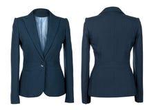 Leerer weiblicher blauer Anzug Stockbilder