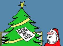 Leerer Weihnachtsbaum lizenzfreie abbildung