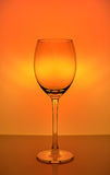 Leerer Wein-Glas-Becher Stockfotografie