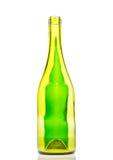 Leerer Wein und Bierflaschen stockfotos