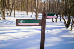 Leerer Zeiger im Natur-Park Stockbild