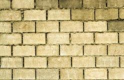 Leerer Ziegelsteinblock stellen Wand her Stockfoto