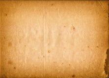 Leeres altes Papier mit Raum für Text oder Bild, Weinleseton Stockbild