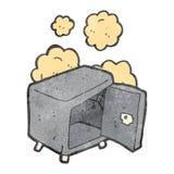 leeres altes Safe der Retro- Karikatur Lizenzfreie Stockfotos