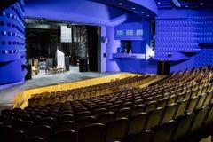 Leeres Auditorium und Stadium im Theater Wiederholung des Spiels stockbilder