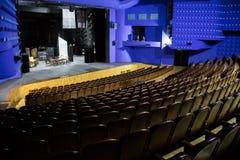 Leeres Auditorium und Stadium im Theater Wiederholung des Spiels lizenzfreie stockfotografie