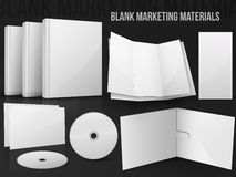 Leere Büromarketing-Materialien Lizenzfreie Stockfotos
