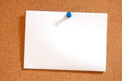 Leeres Blattpapier mit Stoßstift Lizenzfreie Stockfotografie