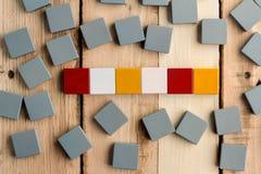 Leeres Blockwort auf dem Holz für Ihre Texte jpg Lizenzfreie Stockfotos