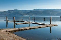 Leeres Boots-Dock Lizenzfreies Stockbild
