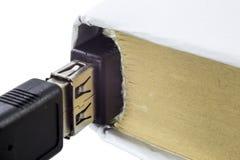 Leeres Buch angeschlossen an USB Lizenzfreie Stockfotos