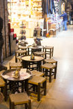 Leeres Café innerhalb des türkischen Marktes Lizenzfreie Stockfotografie