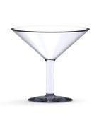 Leeres Cocktailglas getrennt auf dem Weiß Lizenzfreies Stockfoto
