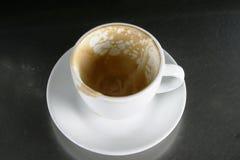 Leeres Cup mit Saucer lizenzfreie stockbilder