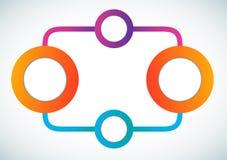 Leeres Farbenkreismarketing-Flussdiagramm Lizenzfreie Stockfotos