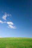 Leeres Feld und Himmel Stockbild