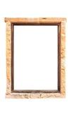 Leeres Fenster im Stein, der von einem Stein alt ist, lokalisierte weißes backgr Lizenzfreies Stockfoto