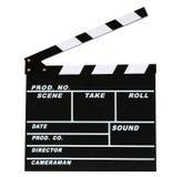 Leeres Filmproduktions-Scharnierventilbrett Lizenzfreie Stockfotos