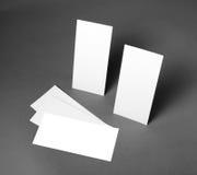 Leeres Fliegerplakat über dem grauen Hintergrund, zum Ihres Designs zu ersetzen Stockbilder