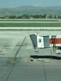 Leeres Flughafentor Stockfotografie