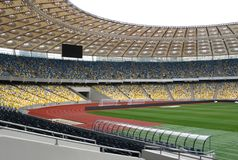 Leeres Fußballstadion Stockfotografie