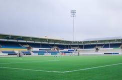 Leeres Fußballstadion stockfotos