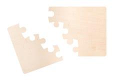 Leeres gebrochenes Puzzlespiel Stockbilder
