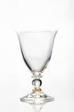 Leeres Glas auf Weiß Stockfoto