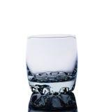 Leeres Glas für Whisky Stockbild