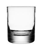 Leeres Glas getrennt auf einem weißen Hintergrund Lizenzfreie Stockfotos