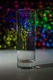 Leeres Glas mit bokeh Lizenzfreies Stockfoto