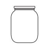 Leeres Glas mit Kappe Lizenzfreie Stockbilder