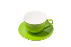Leeres grünes Cup Stockfotografie