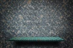 Leeres grünes Metallregal für Produktanzeige vektor abbildung