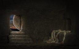 Leeres Grab von Jesus Lizenzfreies Stockfoto