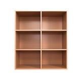 Leeres hölzernes Kabinett Stockbild