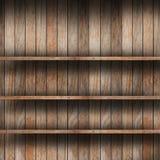Leeres hölzernes Regal Stockbilder