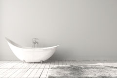 Leeres helles Badezimmer Stockbilder