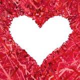 Leeres Herz geformter Rahmen verfasst Stockbilder