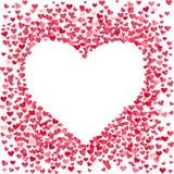 Leeres Herz gemacht von den kleinen Konfettiherzen stock abbildung