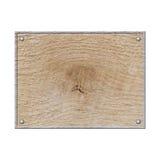 Leeres Holzschild lokalisiert auf Weiß lizenzfreie abbildung
