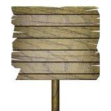 Leeres Holzschild lokalisiert auf Weiß stock abbildung
