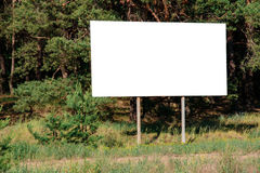 Leeres Infortations-Brett im Wald Stockfotografie