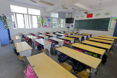 Leeres Klassenzimmer zwischen Klassen stockbild
